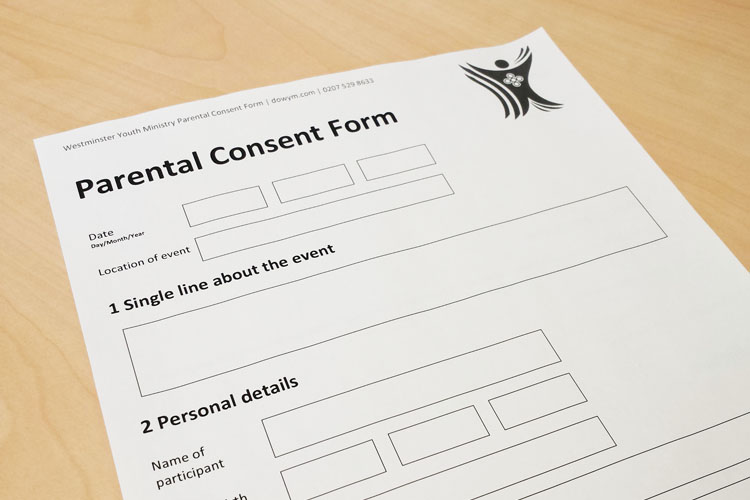 Parental Consent Form - Diocese of Westminster Youth Ministry