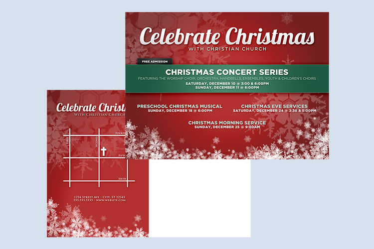 Christmas and Holiday Announcement Templates Design Panoply