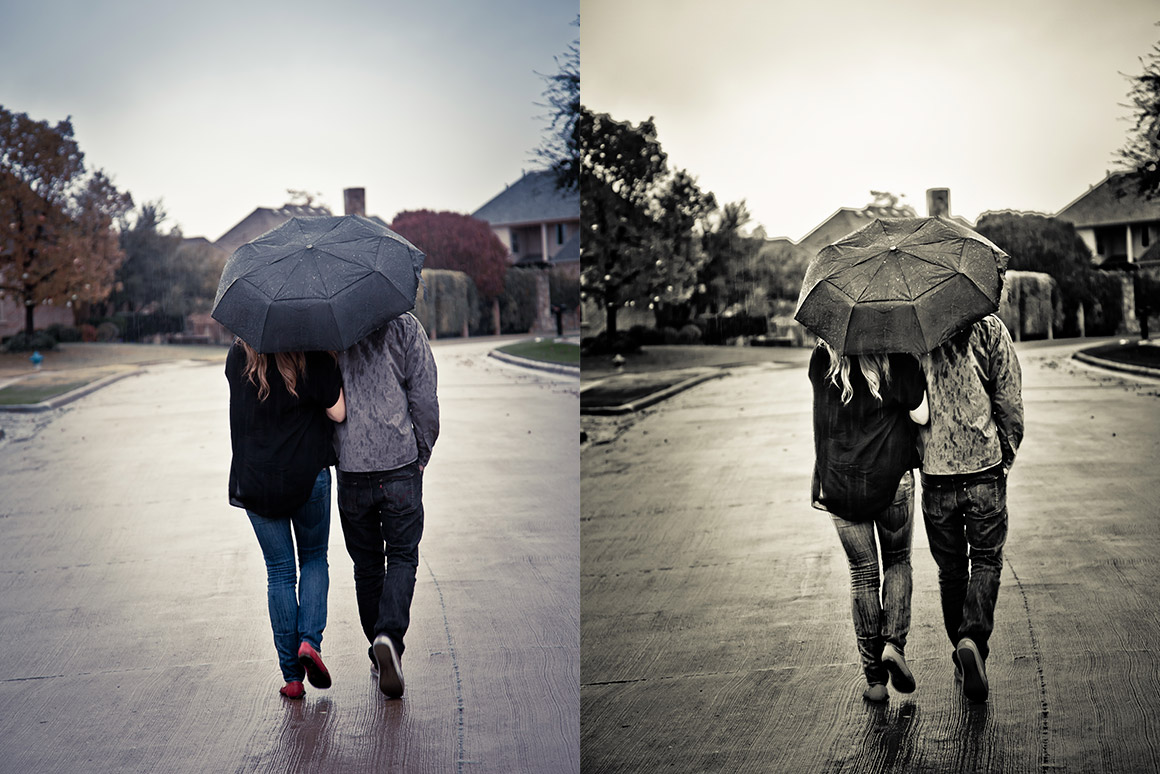 3d Brick Wallpaper Philippines Couple With Umbrella Walking In The Rain Design Panoply