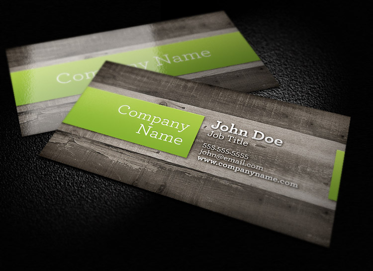 Wood Background Business Card Template 1 Design Panoply - card design template