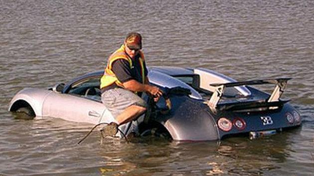 bugatti in the water