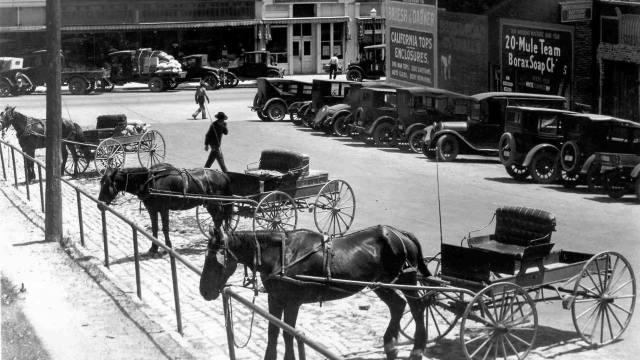 1928 - Mary Street at Hill Plaza looking to Petaluma Boulevard (Old Redwood Hwy), Petaluma