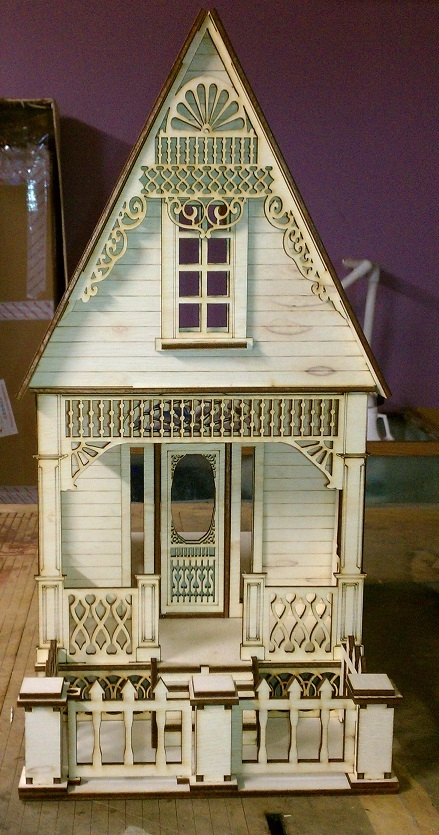Plexiglas Box Little Ann Victorian Cottage 1:12 Scale Dollhouse Kit