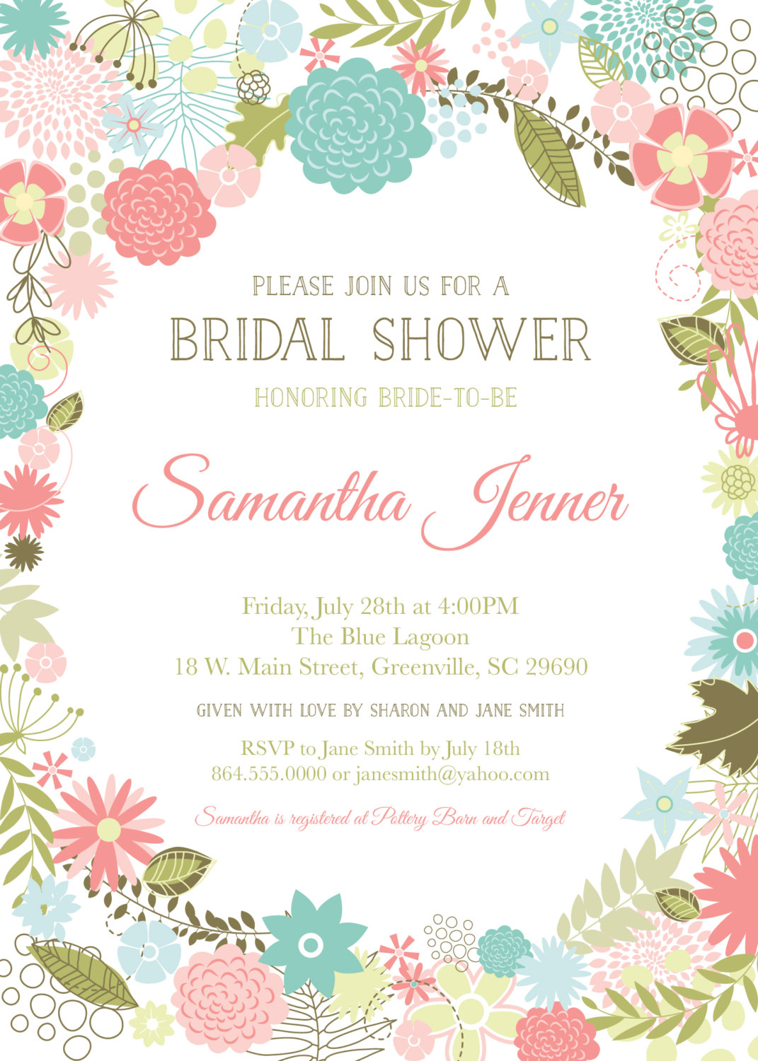 The Yellow Wallpaper Quotes About Gender Retro Modern Flowers Bridal Baby Shower Invitations