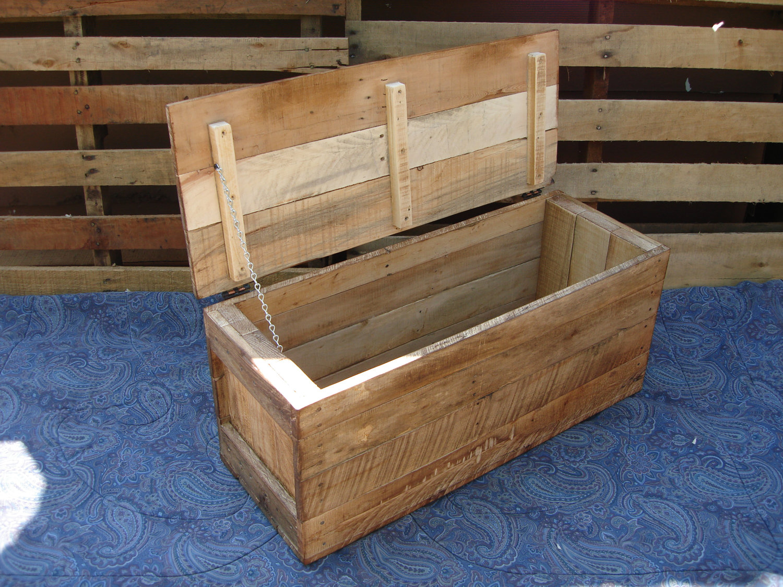 Primitive Wood Box Storage Chest Trunk Wooden Box Style