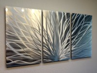 Radiance - 3 Panel Metal Wall Art Abstract Contemporary ...