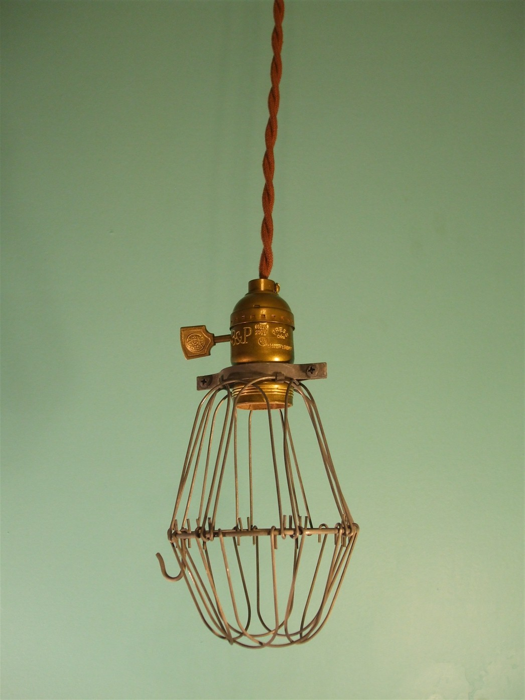Vintage Industrial Style Cage Pendant Lamp on Storenvy