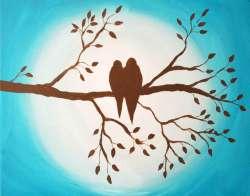 Groovy Birds On Branch Original Birds On Branch Silhouette On Storenvy Birds On A Branch Table Lamp Birds On A Branch Wall Art