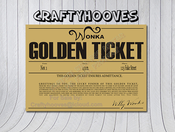 Willy Wonka and the Chocolate Factory Golden Ticket Birthday Party