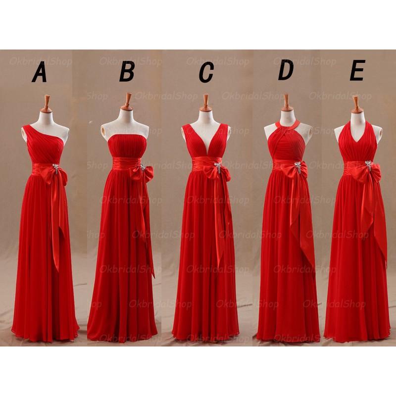red bridesmaid dresses, long bridesmaid dresses, cheap