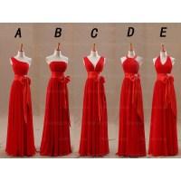 red bridesmaid dresses, long bridesmaid dresses, cheap ...