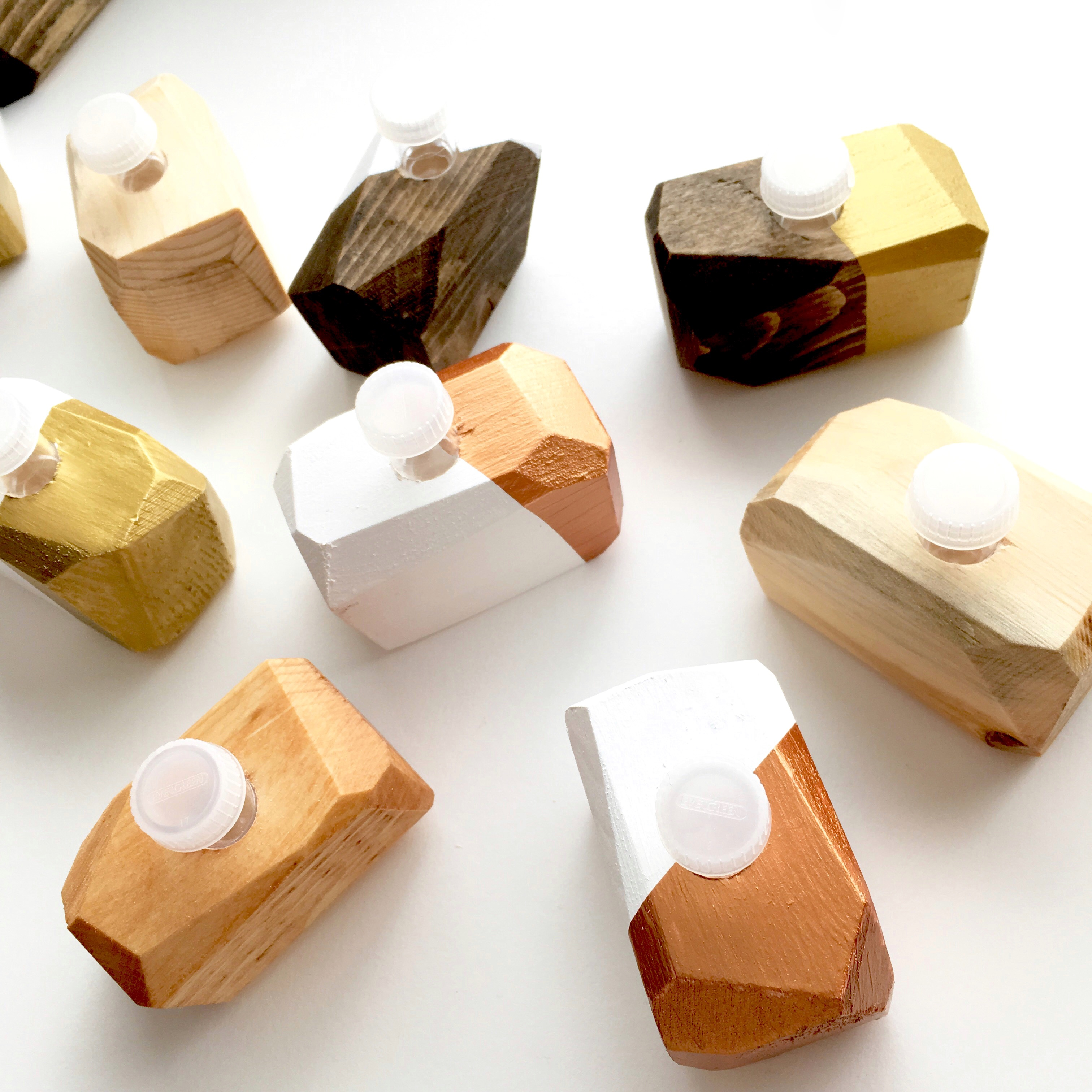 Calligraphy Online Store Handmade Wooden Geo Inkwell Dinky Dip Holder For