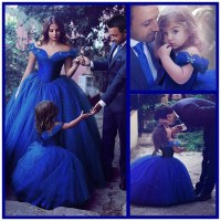 Ball Gown Off Shoulder Royal Blue Flower Girl Dress,Girls ...