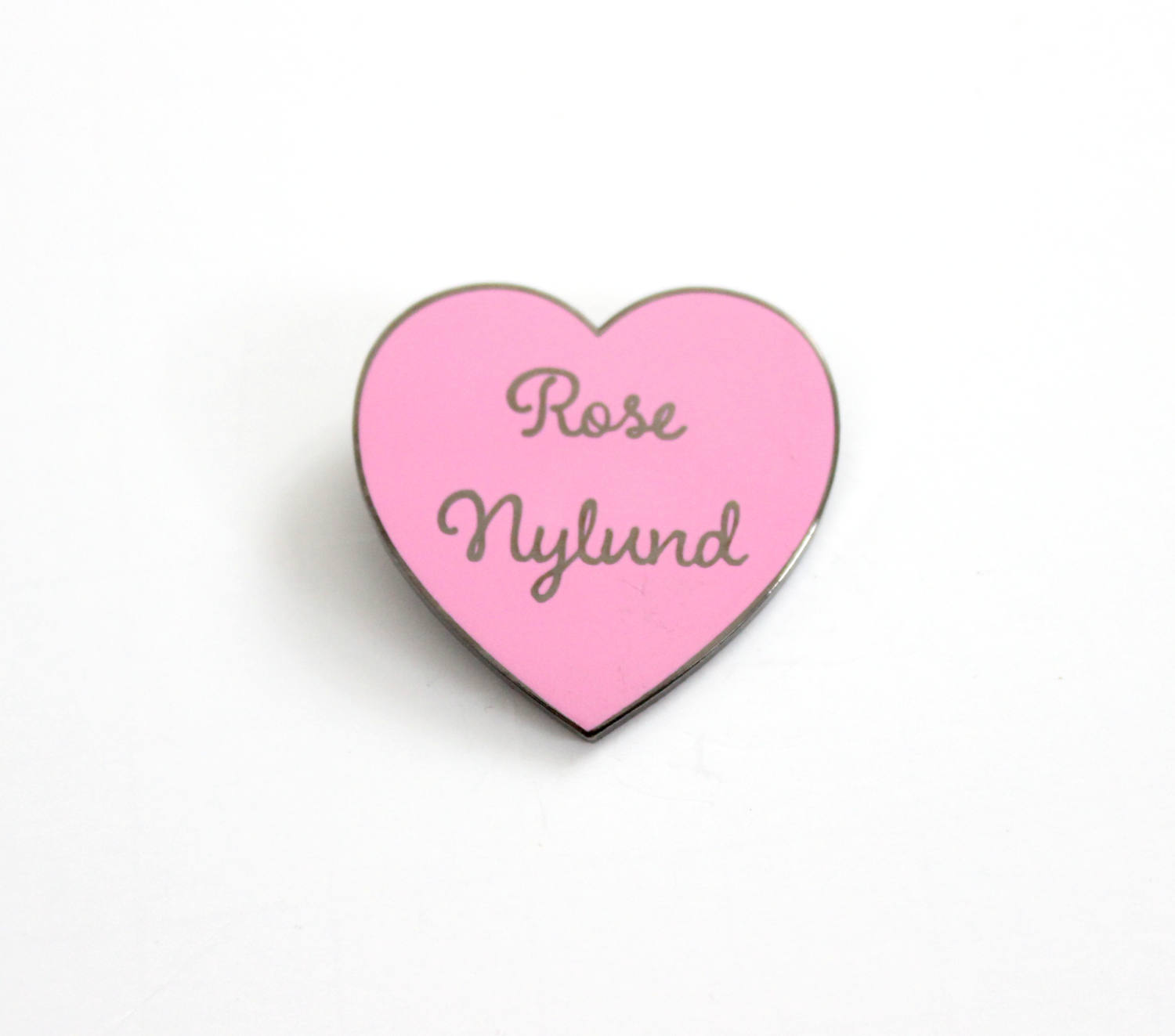 Pink Tv Online Rose Nylund Pink And Black Nickel Heart Pin Golden Girls Tv Show Inspired 1 25