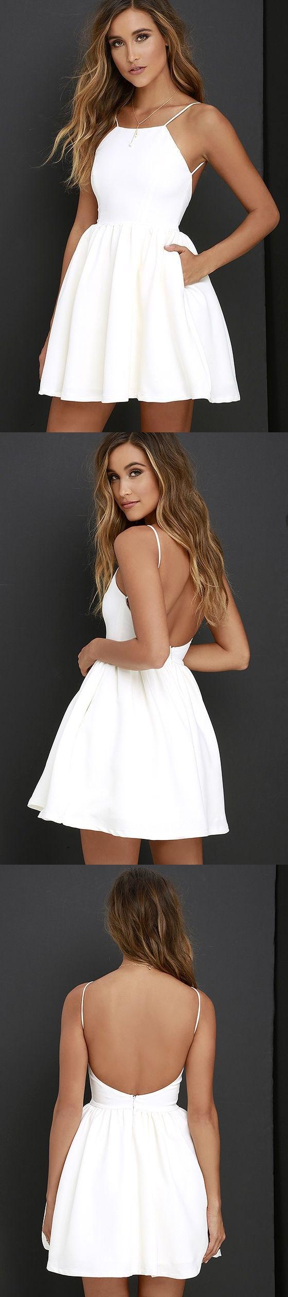 Flossy Size Dress Amazon Short Sexy Prom Short Sexy Prom Dress Dress wedding dress Simple White Dress
