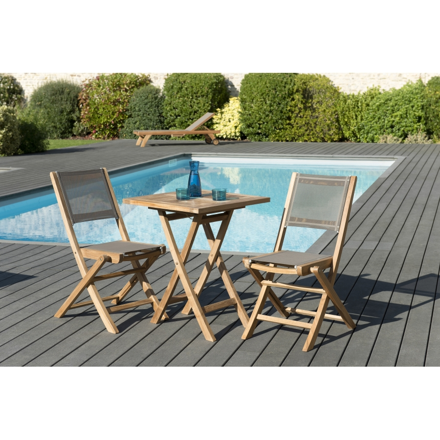 Salon De Jardin Table Carrée Salon De Jardin N127 Comprenant 1 Table Carrée Pliante 60 60cm Et