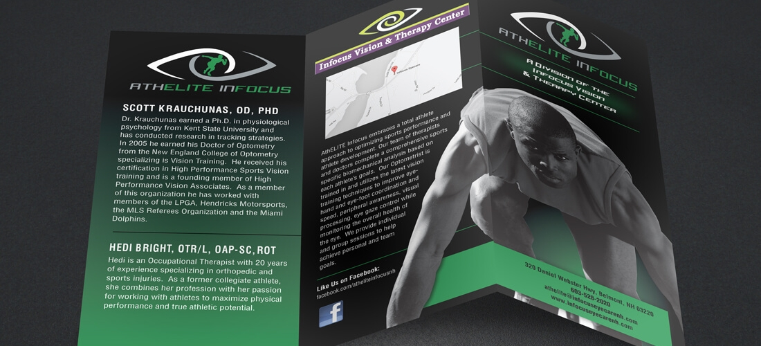 Infocus Vision  Sports Therapy Brochure - Welcome to DPi Graphics - sports brochure