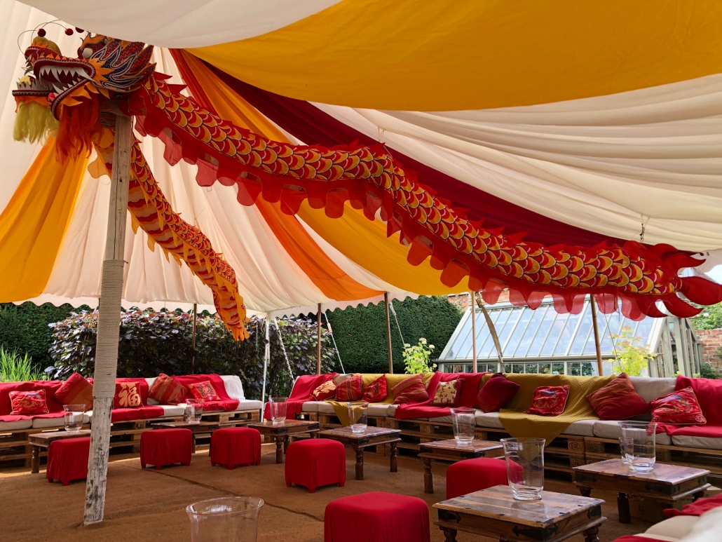 White Umbrella Marquees Alternative Seating Dp Marquees Dorset Party Hire