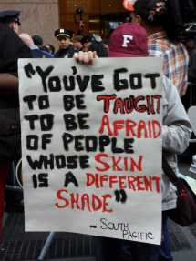 """""""You've got to be taught to be afraid of people whose skin is a different shade"""" - South Pacific"""