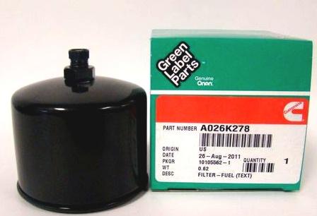 Onan Fuel Filter A026K278