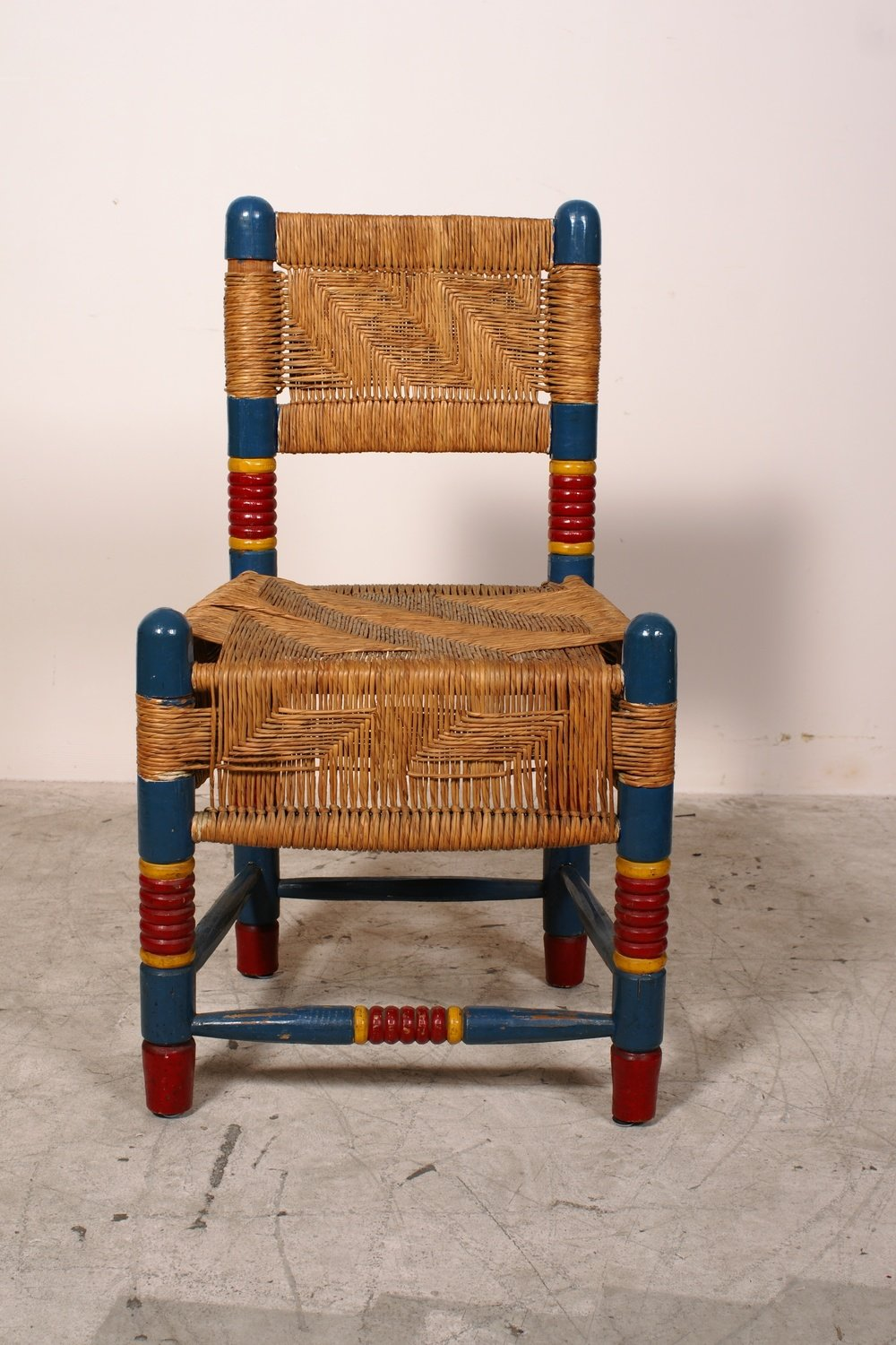 Mexican Rocking Chair Vintage Mexican Chairs W Woven Rush