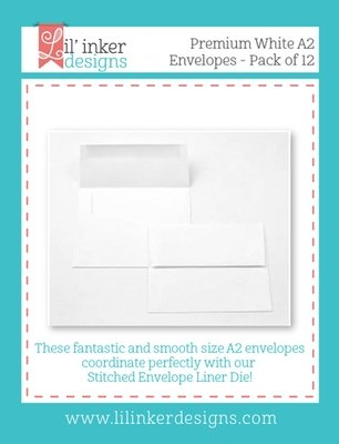 Premium White A2 Envelopes (x 12) - USA Card size