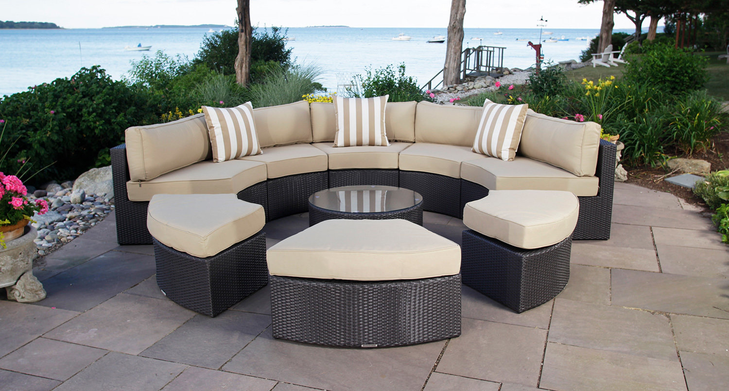 Round Patio Furniture Santorini Outdoor Daybed