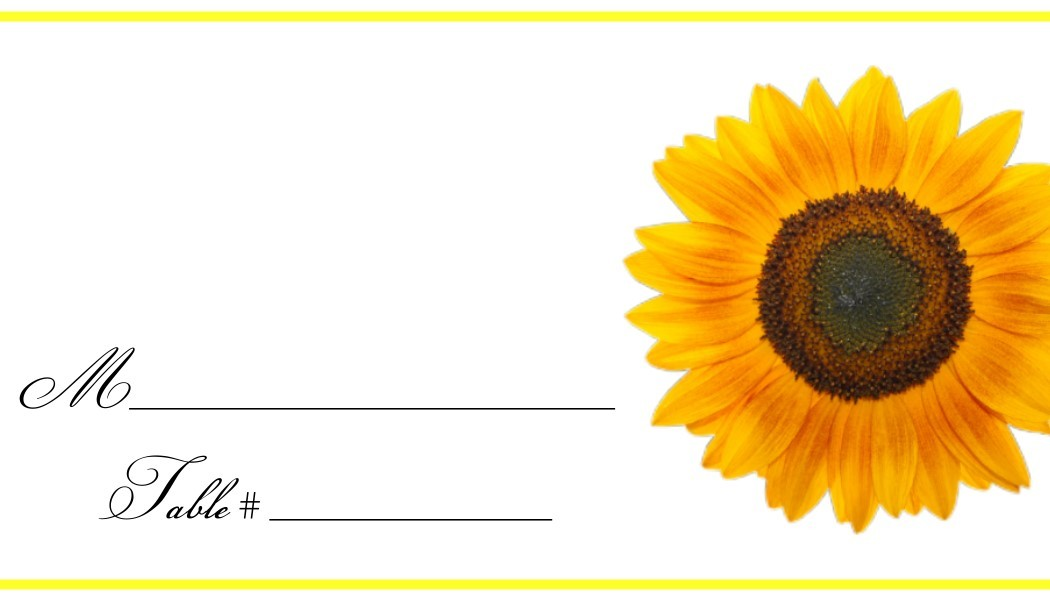 Diva Entertains Party Favors and Gifts \u2013 Sunflower Place Cards
