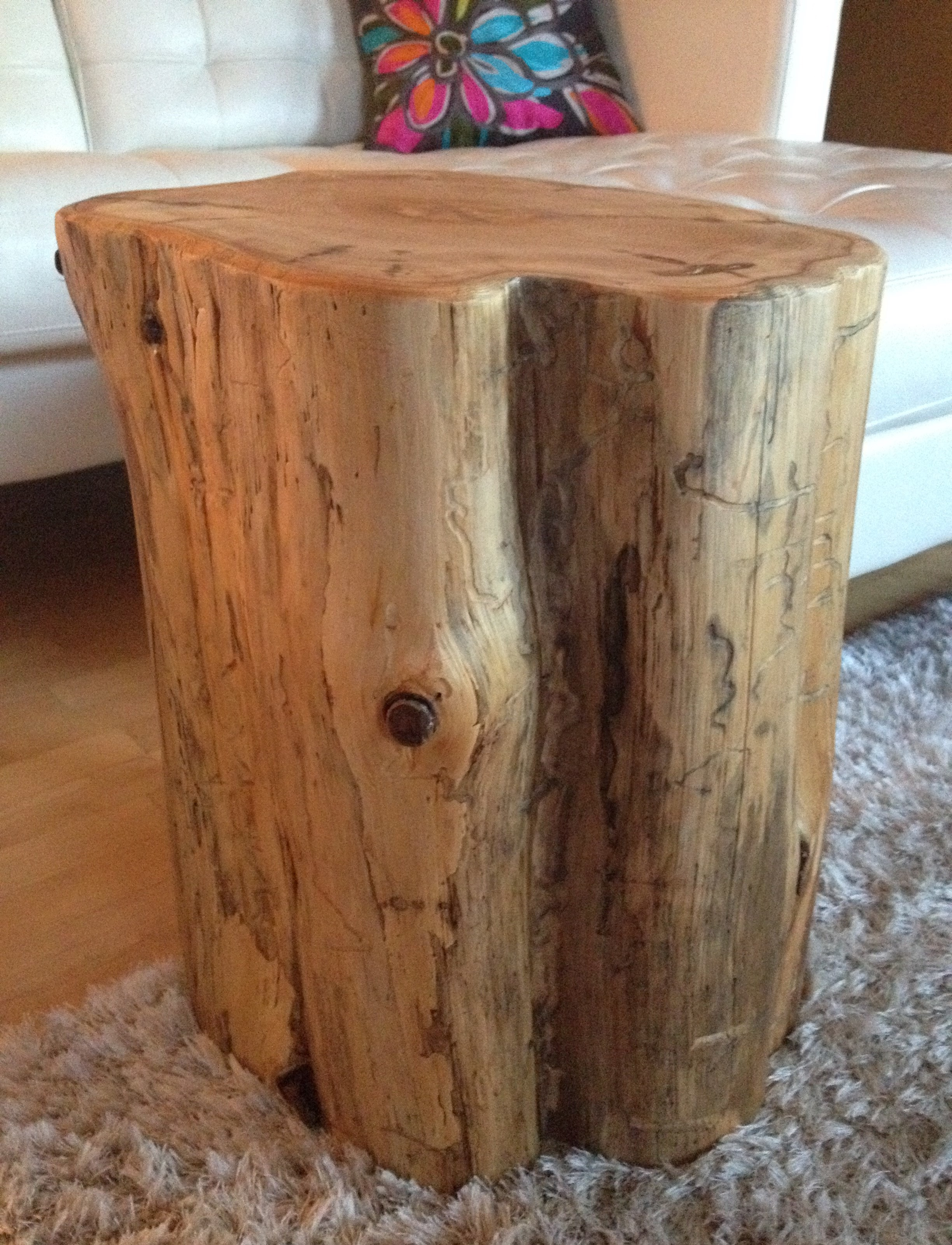 Wood Block End Tables Stump Side Table Log Side Tables Rustic Coffee Table