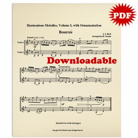 002 - PDF BUNDLE - Harmonious Melodies For Two Violins, Volume I