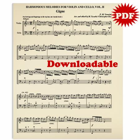 014 - PDF BUNDLE Harmonious Melodies For Violin/Cello, Volume II