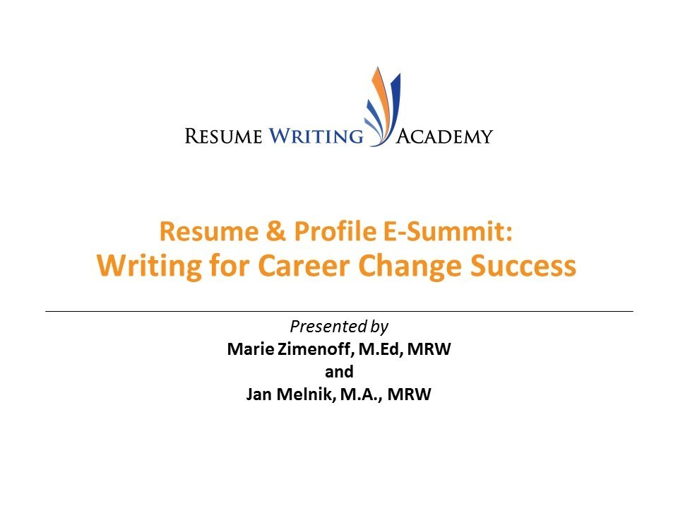 E-Summit Writing for Career Change Success
