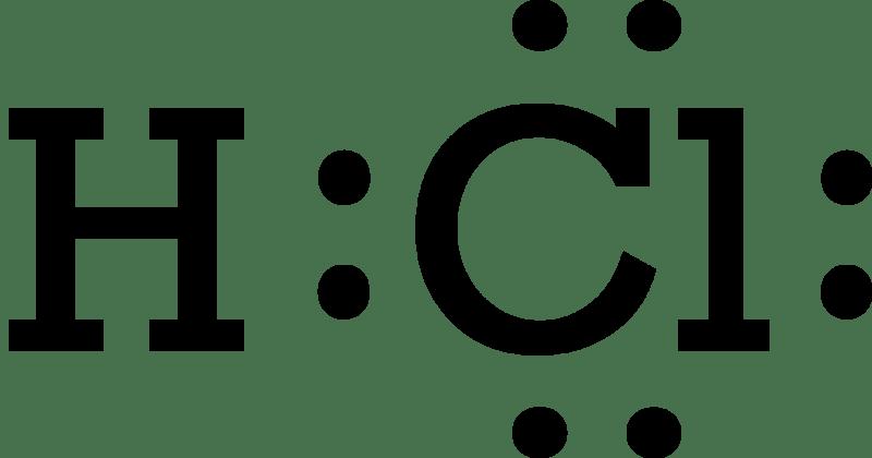 hcl electron diagram