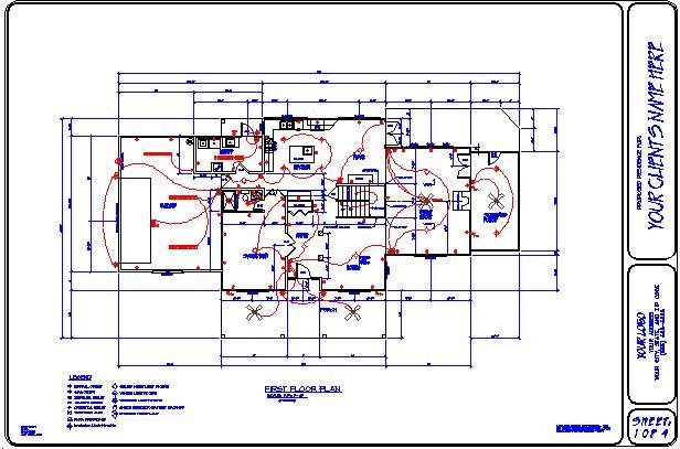electrical plan sample