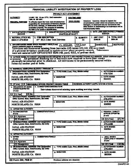 Figure 110-DD Form 200 - da form
