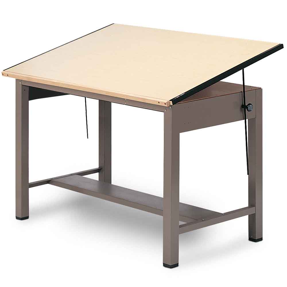 Adjustable Height Drafting Table Metal Drafting Tables Drafting Equipment Warehouse