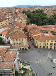 Looking out over Pisa from the top of the leaning tower.