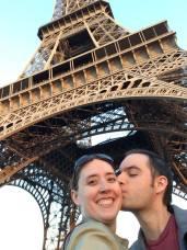 Under the Eiffel Tower.