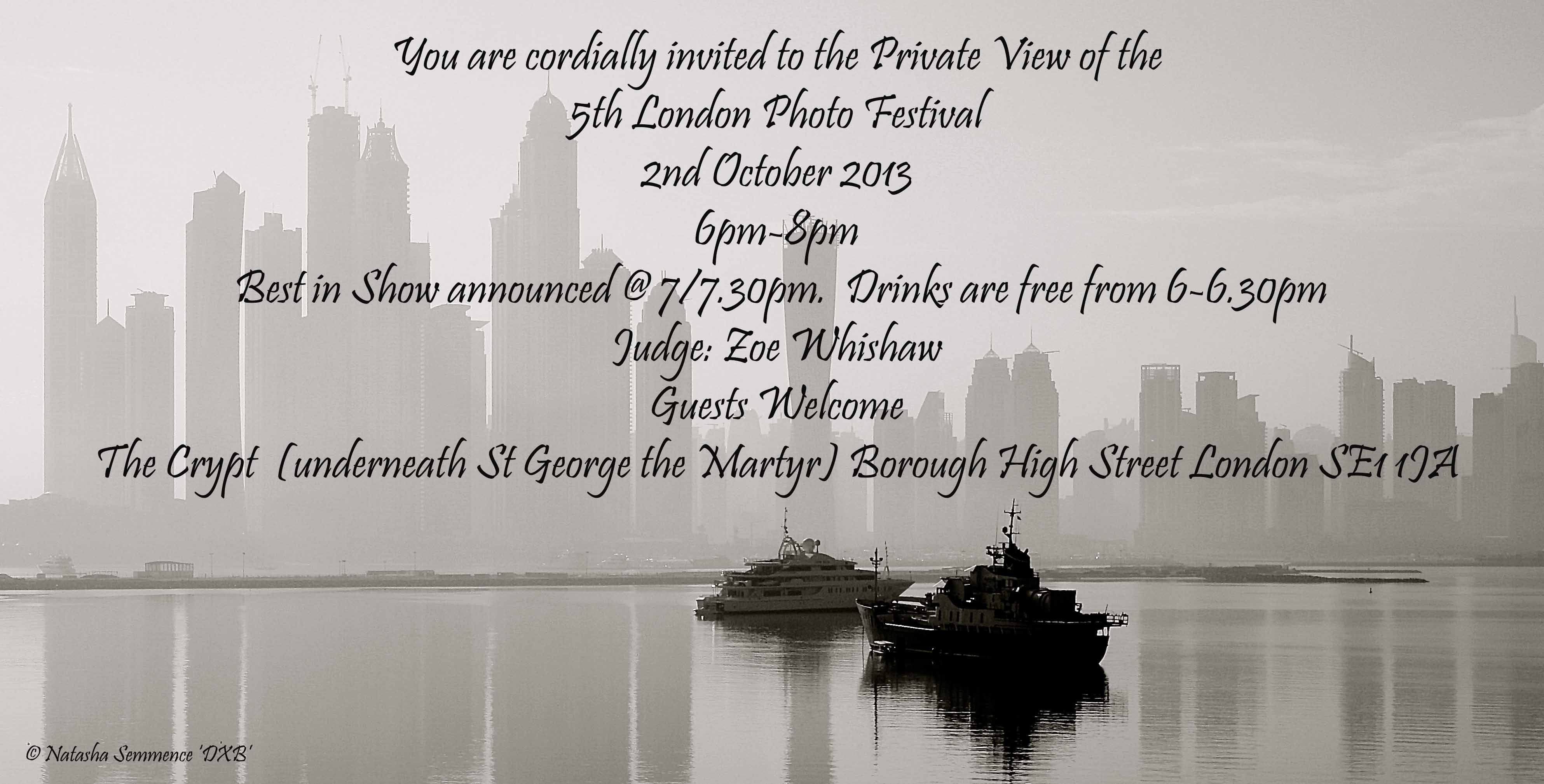 Exhibition Invitation With Private View Invitation 2nd
