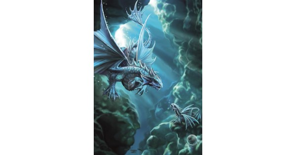 Anne Stokes Fantasy Greeting Card Water Dragon
