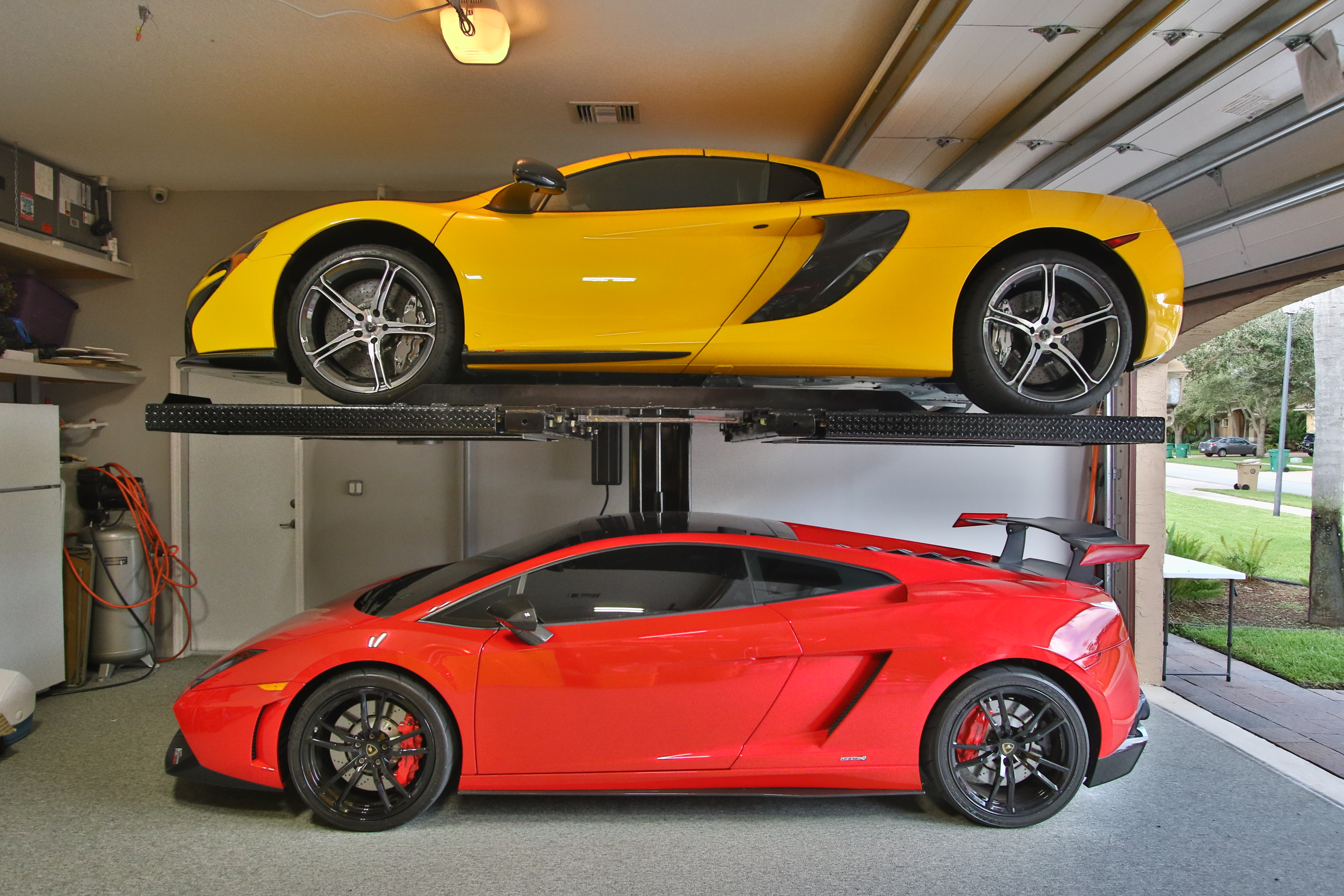 Garage Car Lift Images American Custom Lifts M1 4 5 Single Post Car Lift Install And