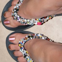 Do it yourself beaded flip flops