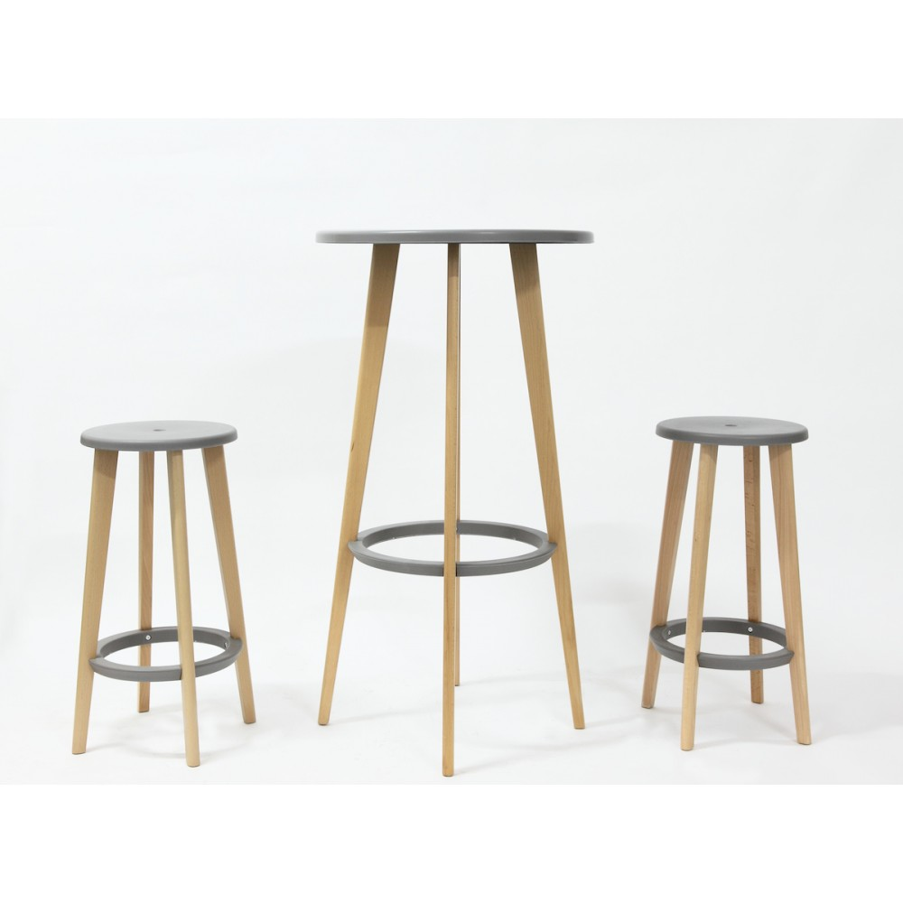Tabouret Bois Design Gris Harry 39 S Par Drawer