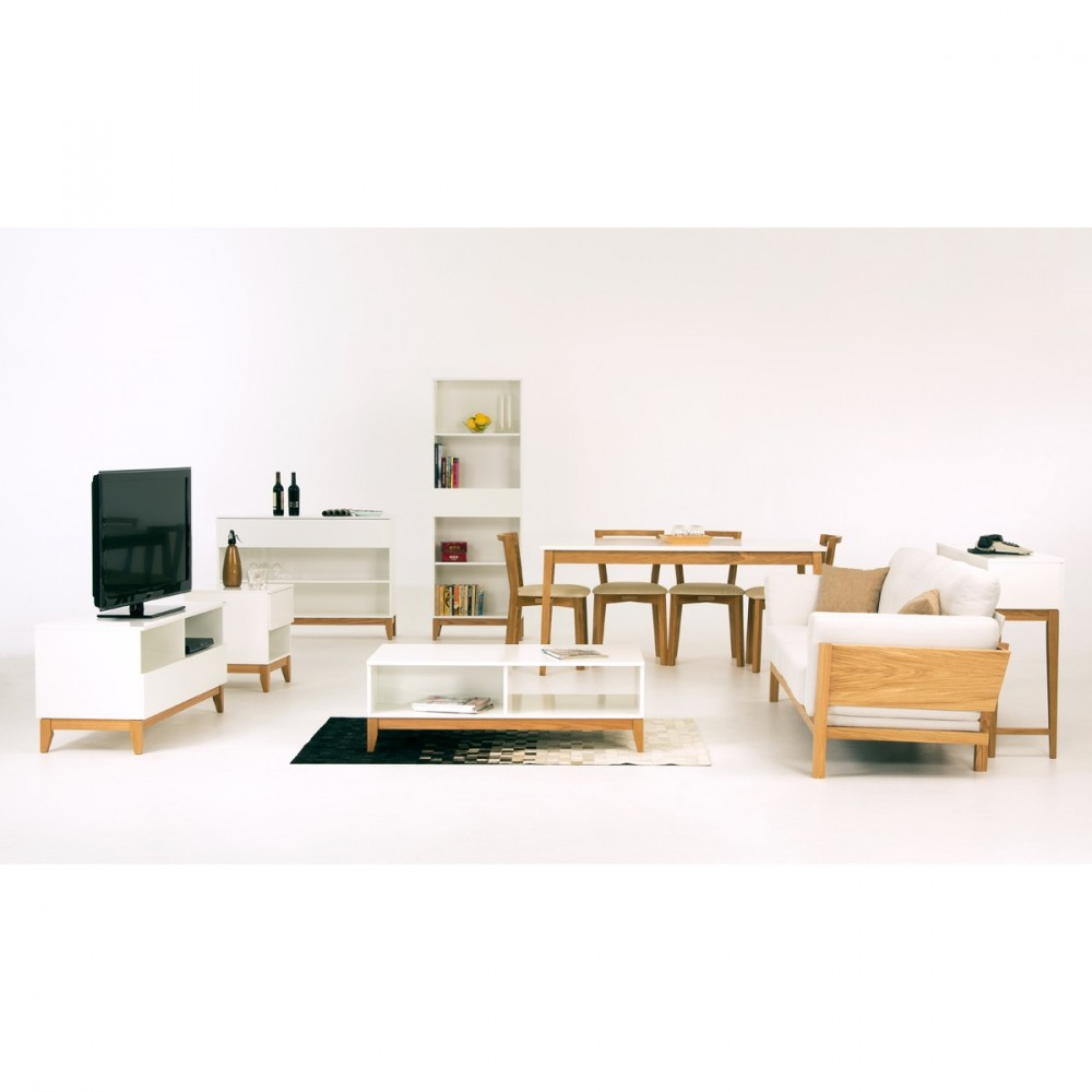 Meuble Tv Nordique Meuble Tv Design Scandinave Blanco Wide