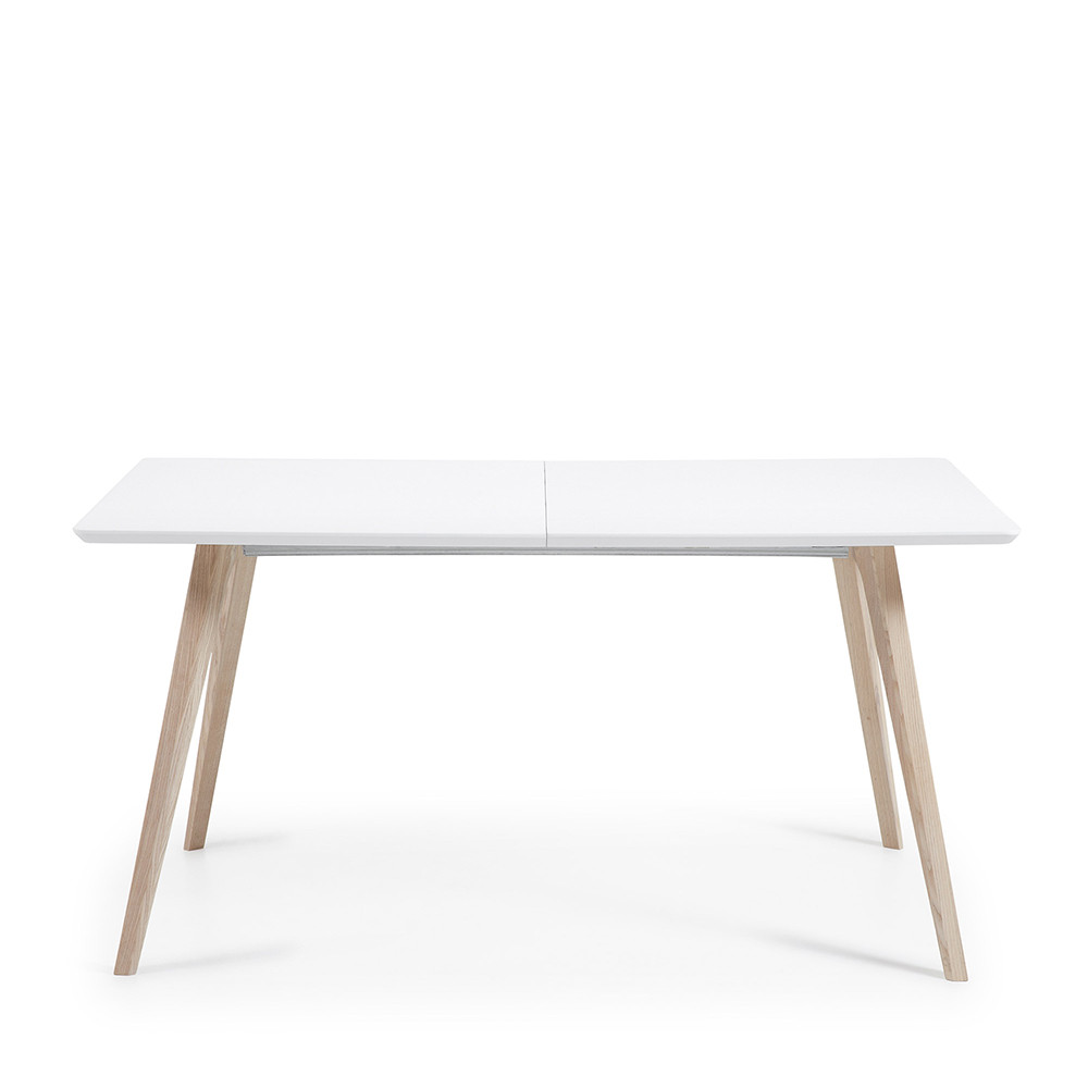 Table En Bois Design Table Design Scandinave Extensible Bois Blanc Laqué Mat Joshua