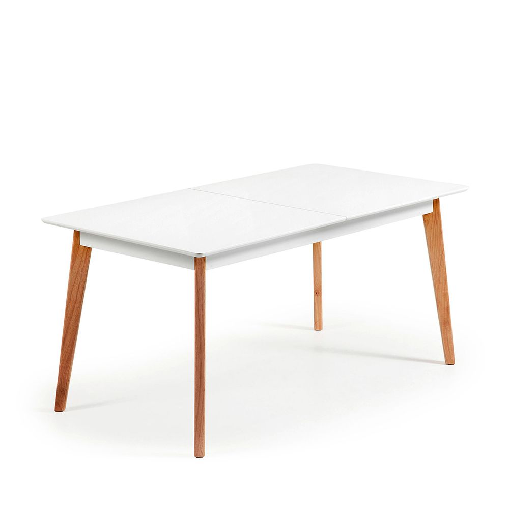 Table Laquée Blanc Table Blanc Laqu Extensible Ikea Table Design Blanche