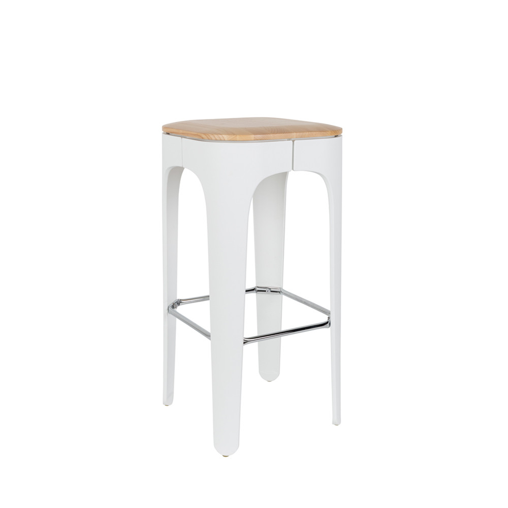 Tabourets De Bar Bois Et Cuir Tabouret De Bar Bois 73cm Up High