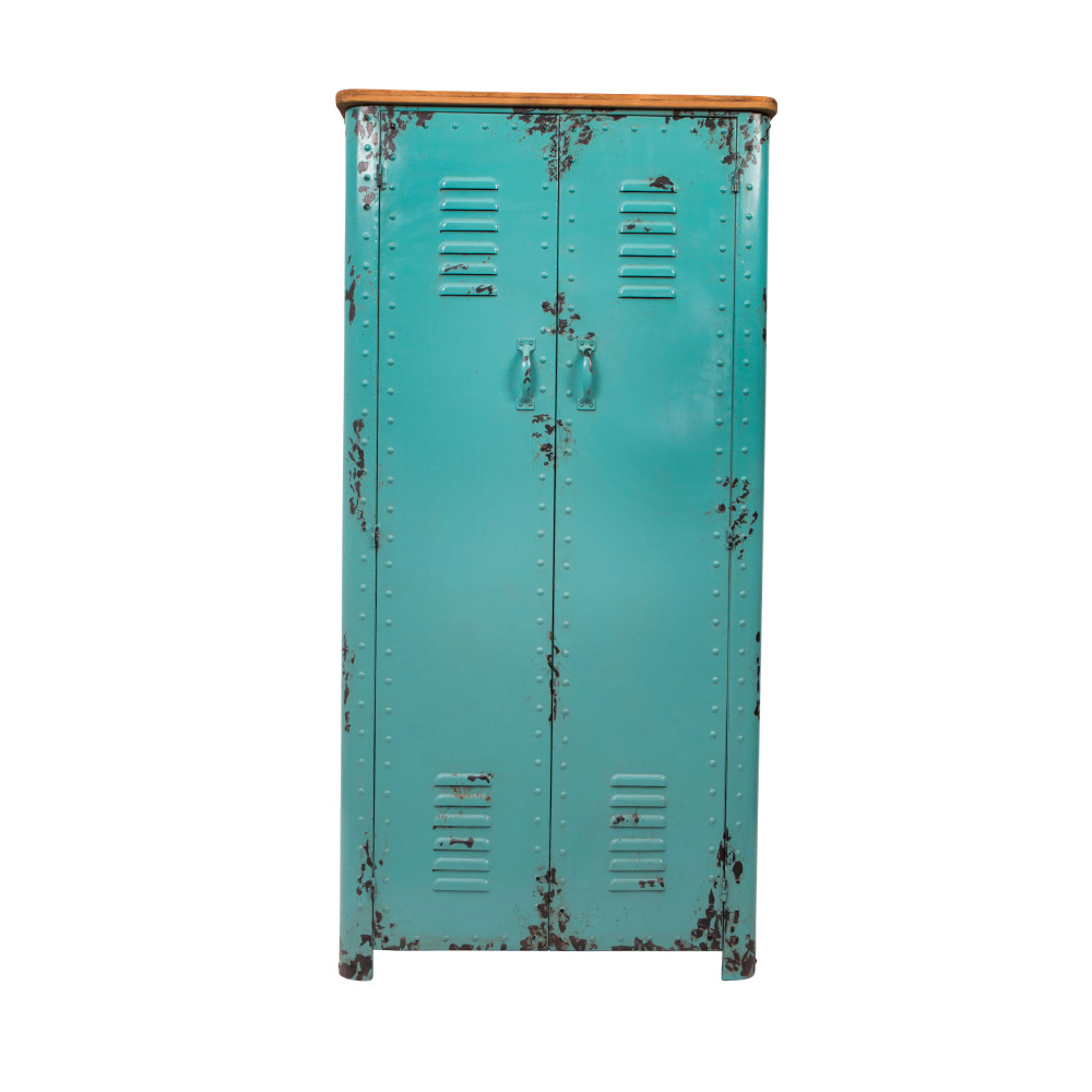 Pouf Exterieur Bleu Armoire Casier En Métal Rusty Dutchbone By Drawer
