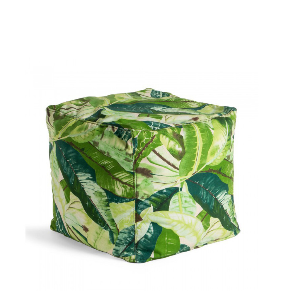 Pouf Exterieur Made Jungle Pouf à Motifs 45x45cm Indoor Outdoor