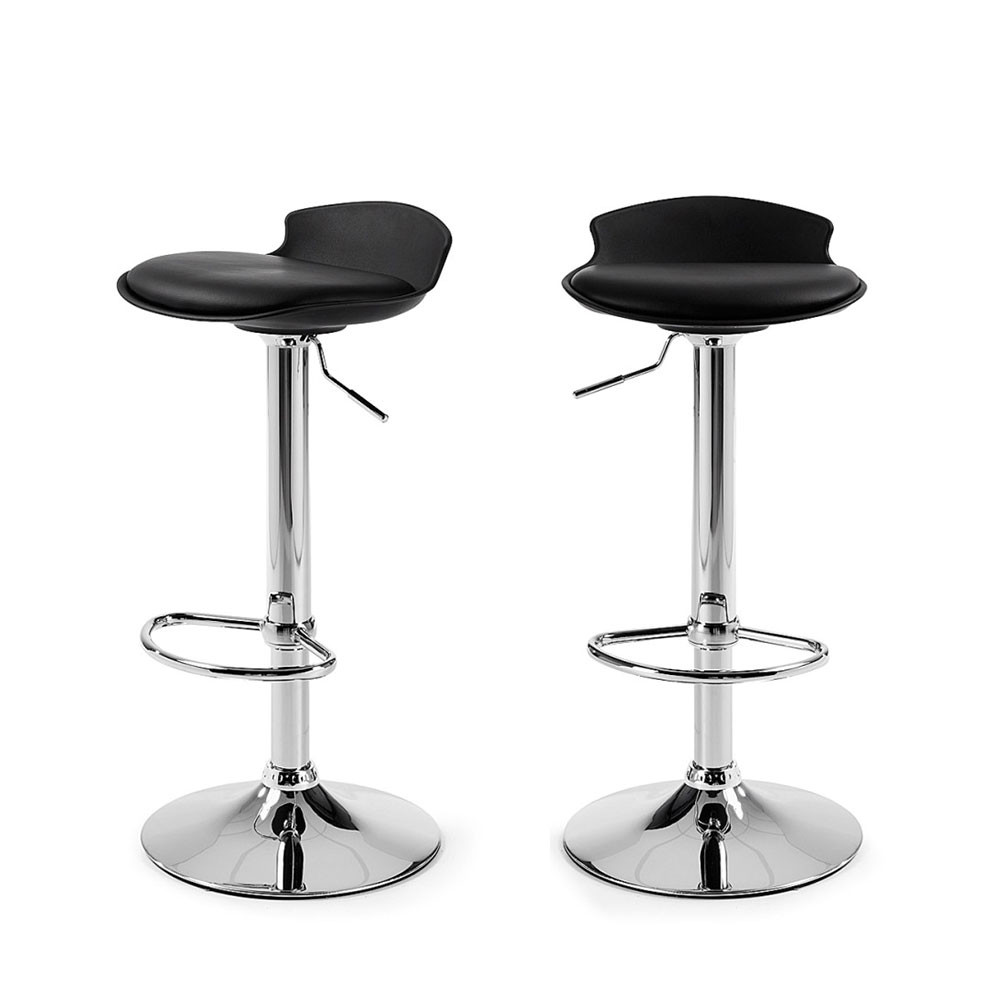 6 Tabourets De Bar Lot De 2 Tabourets De Bar Design Uma One By Drawer.fr